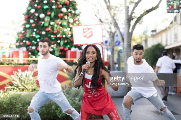 Tyler Strozeski Recording Artist Dominae and Bryan Davis perform at The Salvation Army Celebrity Kettle Kickoff Red Kettle Hollywood at the Original...