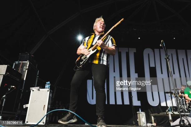 Tyler Szalkowski of State Champs performs on stage during day 3 of Download festival 2019 at La Caja Magica on June 30 2019 in Madrid Spain