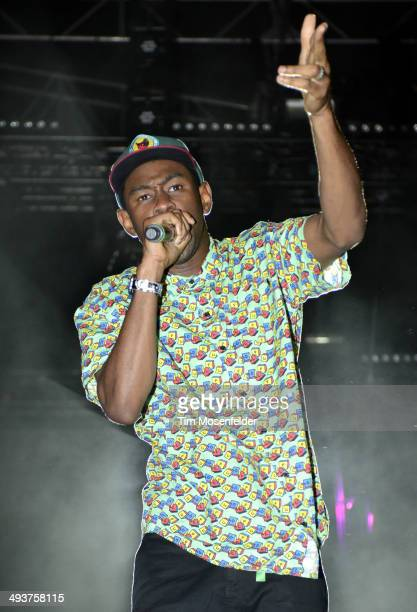 Tyler The Creator aka Tyler Okonma performs during the Sasquatch Music Festival at the Gorge Amphitheatre on May 24 2014 in George Washington