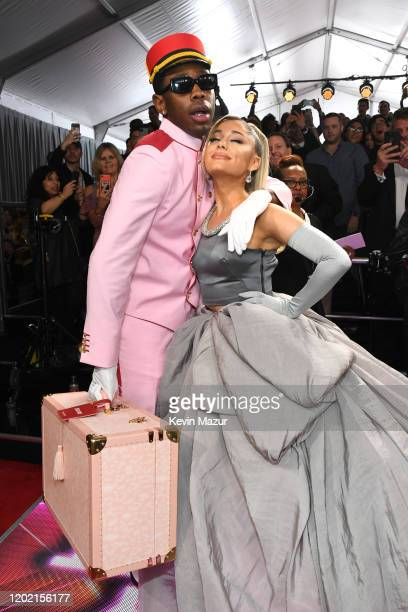 Tyler the Creator and Ariana Grande attend the 62nd Annual GRAMMY Awards at STAPLES Center on January 26 2020 in Los Angeles California 1