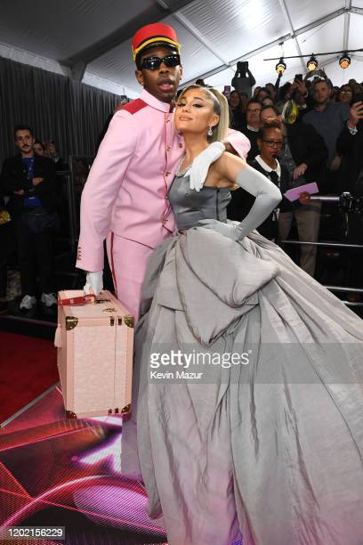 Tyler the Creator and Ariana Grande attend the 62nd Annual GRAMMY Awards at STAPLES Center on January 26 2020 in Los Angeles California