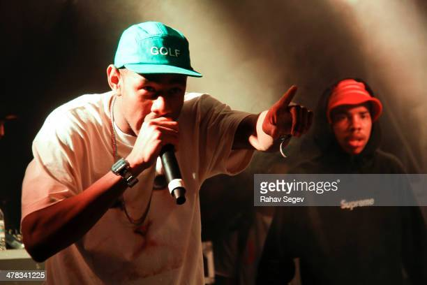 Tyler the Creator and Earl Sweatshirt perform at Red Bull Sound Select at The Belmont on March 12 2014 in Austin Texas