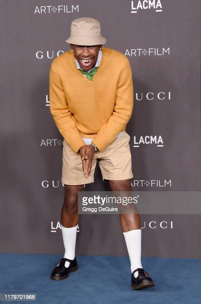 Tyler The Creator arrives at the 2019 LACMA Art Film Gala Presented By Gucci on November 2 2019 in Los Angeles California