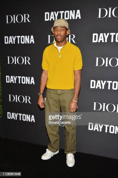 Tyler the Creator attends Dior Celebrates Pusha T Daytona Rap Album Of The Year Hosted By Steven Victor at Dior Men's Boutique on February 08 2019 in...