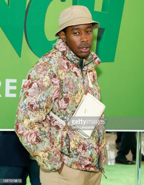 Tyler the Creator attends Dr Seuss' The Grinch New York premiere at Alice Tully Hall Lincoln Center on November 3 2018 in New York City