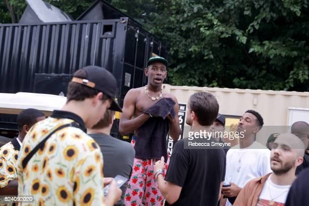 Tyler The Creator attends the 2017 Panorama Music Festival at Randall's Island on July 28 2017 in New York City
