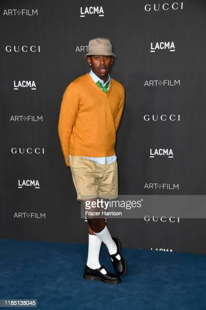 Tyler The Creator attends the 2019 LACMA 2019 Art Film Gala Presented By Gucci at LACMA on November 02 2019 in Los Angeles California