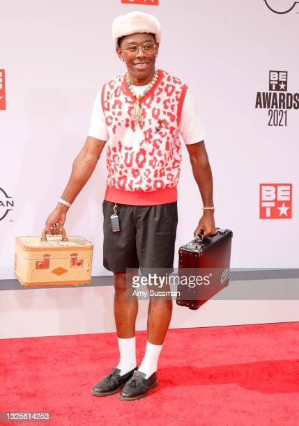 Tyler, the Creator attends the BET Awards 2021 at Microsoft Theater on June 27, 2021 in Los Angeles, California.