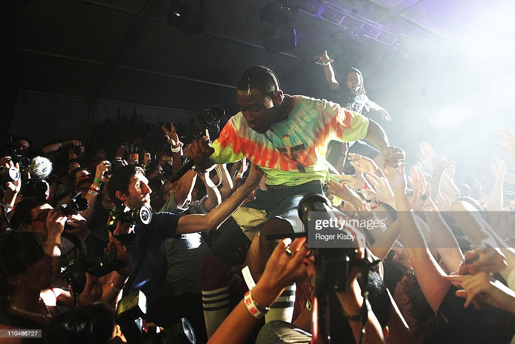 8604be54d6b6 Tyler the Creator of Odd Future performs a surprise set at Fader ...