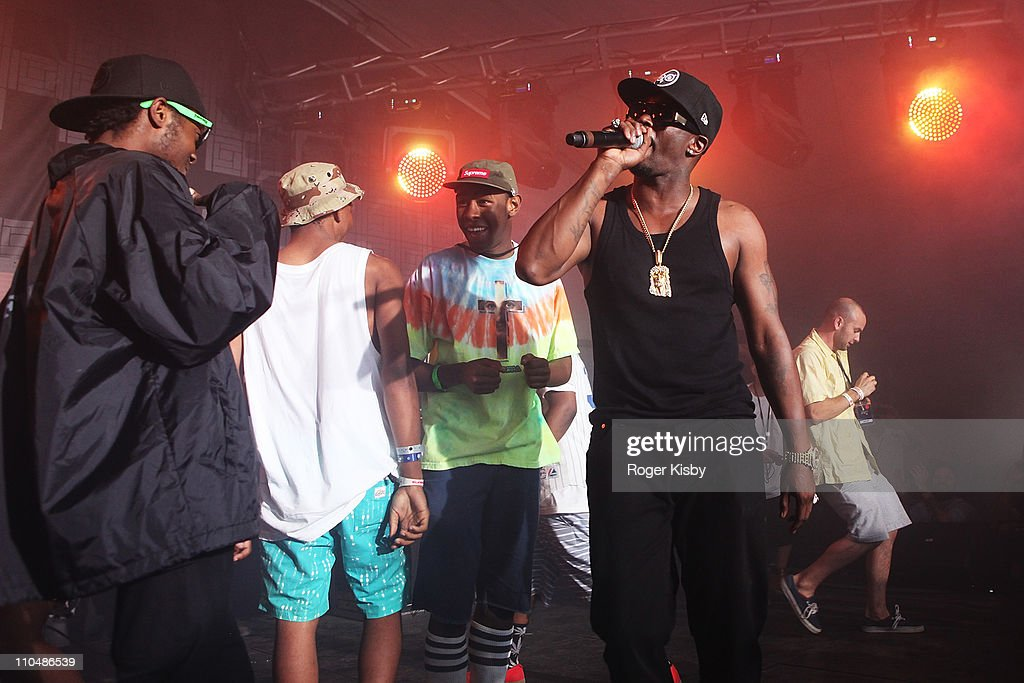 eac3bceb5bc6 Tyler the Creator of Odd Future performs a surprise set with Sean ...