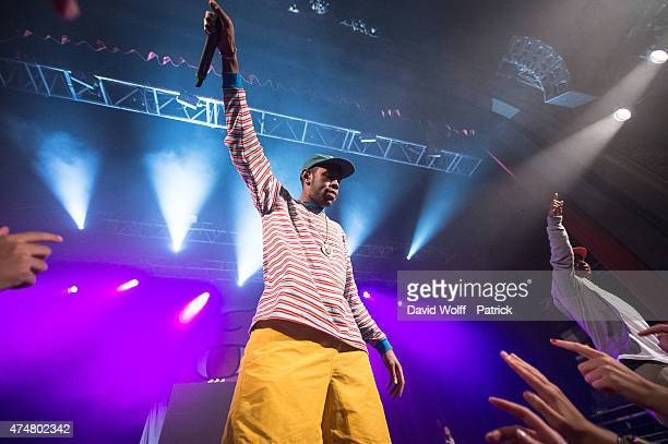 Tyler the Creator performs at Le Trianon on May 26 2015 in Paris France