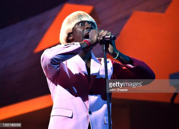 Tyler the Creator performs at the 62nd Annual GRAMMY Awards on January 26 2020 in Los Angeles California