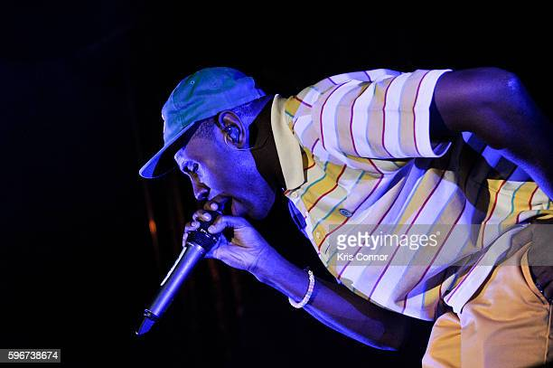 Tyler The Creator performs during the 12th Annual Afropunk Brooklyn Festival at Commodore Barry Park on August 27 2016 in New York City