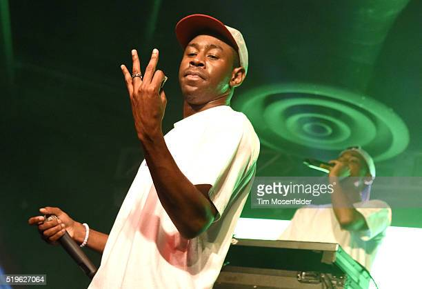 Tyler the Creator performs in support of his 'Cherry Bomb' release at Ace of Spades on April 6 2016 in Sacramento California