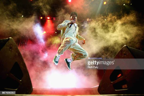 Tyler The Creator performs on the Camp Stage during day 1 of Camp Flog Gnaw Carnival 2017 at Exposition Park on October 28 2017 in Los Angeles...