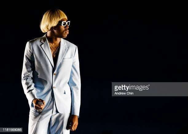 Tyler The Creator performs onstage at Pacific Coliseum on October 15 2019 in Vancouver Canada
