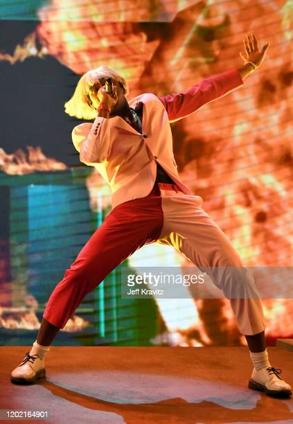 Tyler, the Creator performs onstage during the 62nd Annual GRAMMY Awards at Staples Center on January 26, 2020 in Los Angeles, California.