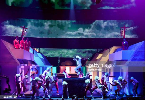 Tyler the Creator performs onstage during the 62nd Annual GRAMMY Awards at STAPLES Center on January 26 2020 in Los Angeles California