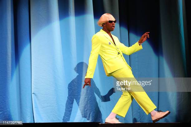 Tyler the Creator performs onstage for Day 1 of 2019 Governors Ball Music Festival at Randall's Island on May 31 2019 in New York City