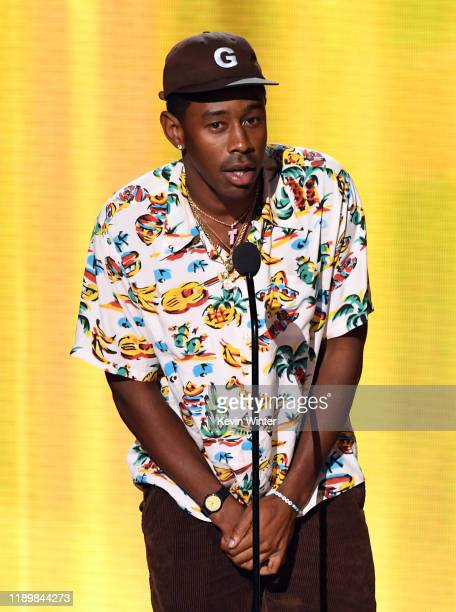 Tyler, the Creator speaks onstage during the 2019 American Music Awards at Microsoft Theater on November 24, 2019 in Los Angeles, California.
