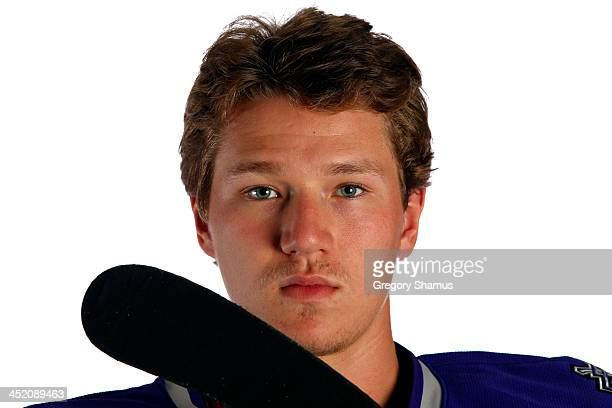 Tyler Toffoli of the Los Angeles Kings poses for an NHLPA The Players Collection portrait at The Westin Harbour Castle hotel on August 27 2012 in...