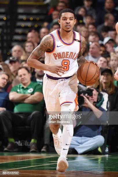 Tyler Ulis of the Phoenix Suns handles the ball against the Boston Celtics on December 2 2017 at the TD Garden in Boston Massachusetts NOTE TO USER...