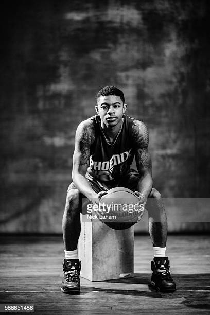 Tyler Ulis of the Phoenix Suns poses for a portrait during the 2016 NBA Rookie Photoshoot at Madison Square Garden Training Center on August 7 2016...