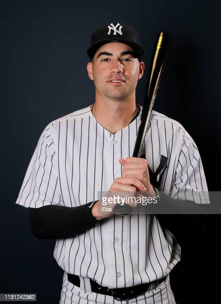 Tyler Wade of the New York Yankees poses for a portrait during the New York Yankees Photo Day on February 21 2019 at George M Steinbrenner Field in...