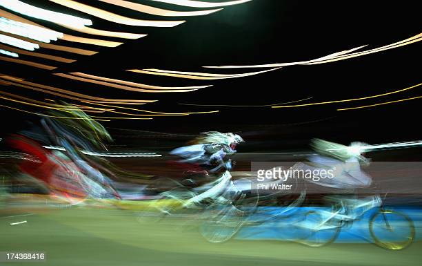 Tyler Waite of New Zealand rides in the 5 6 year old boys during day two of the UCI BMX World Championships at Vector Arena on July 25 2013 in...
