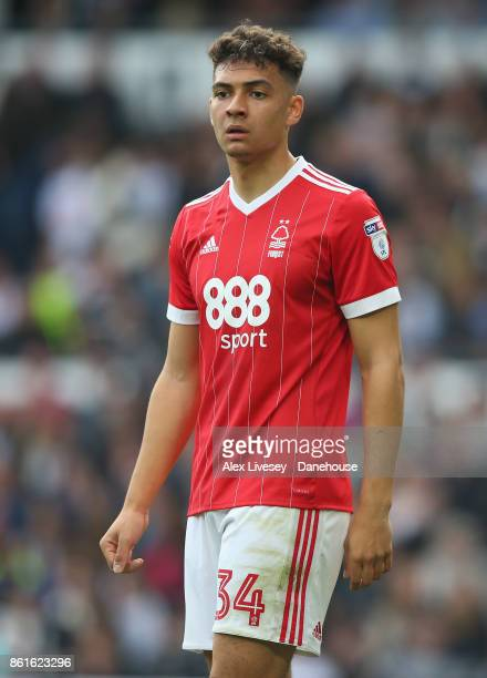 Tyler Walker of Nottingham Forest during the Sky Bet Championship match between Derby County and Nottingham Forest at iPro Stadium on October 15 2017...
