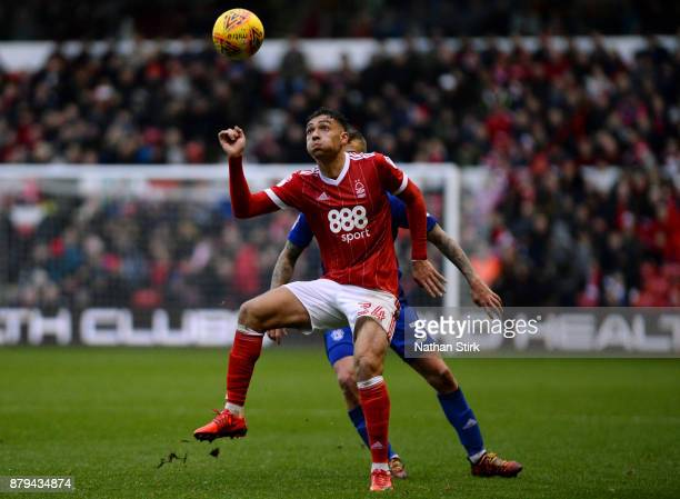 Tyler Walker of Nottingham Forest in action during the Sky Bet Championship match between Nottingham Forest and Cardiff City at City Ground on...