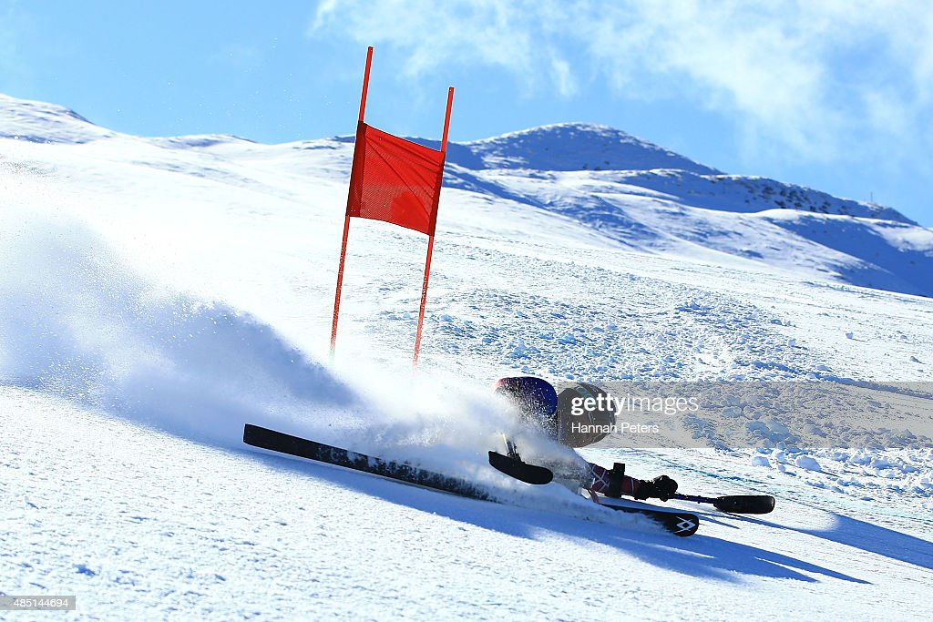 Tyler Walker of the United States competes in the Men Giant Slalom Sitting LW12-1 in the IPC Alpine Adaptive Giant Slalom Southern Hemisphere Cup during the Winter Games NZ at Coronet Peak on August 25, 2015 in Queenstown, New Zealand.