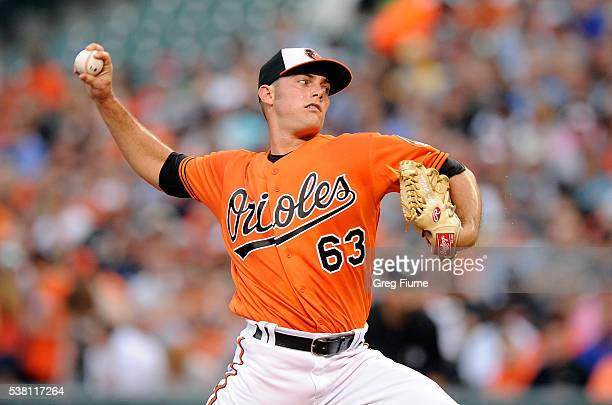 Tyler Wilson of the Baltimore Orioles pitches in the second inning against the New York Yankees at Oriole Park at Camden Yards on June 4, 2016 in...