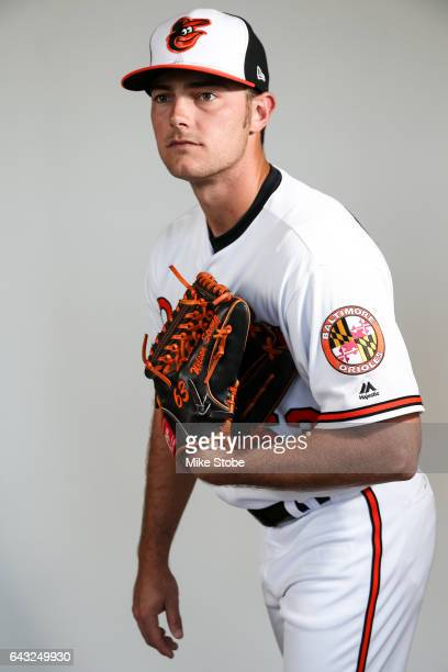 Tyler Wilson of the Baltimore Orioles poses for a portait during a MLB photo day at Ed Smith Stadium on February 20, 2017 in Sarasota, Florida.