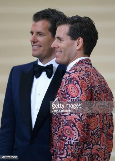 "Tyler Winkelvoss, Cameron Winkelvoss, attend ""Rei Kawakubo/Comme des Garcons: Art Of The In-Between"" Costume Institute Gala - O at Metropolitan..."