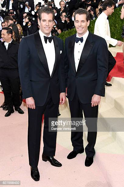 """Tyler Winklevoss and Cameron Winklevoss attend the """"Manus x Machina: Fashion In An Age Of Technology"""" Costume Institute Gala at Metropolitan Museum..."""