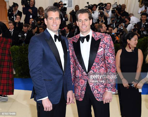 """Tyler Winklevoss and Cameron Winklevoss attend the """"Rei Kawakubo/Comme des Garcons: Art Of The In-Between"""" Costume Institute Gala at the Metropolitan..."""