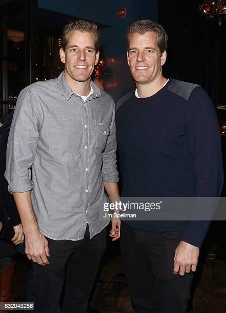 """Tyler Winklevoss and Cameron Winklevoss attend the screening after party for """"The Founder"""" hosted by The Weinstein Company with Grey Goose at The..."""