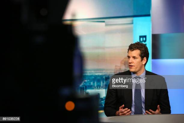 Tyler Winklevoss chief executive officer and cofounder of Gemini speaks during a Bloomberg Television interview in New York US on Tuesday Dec 12 2017...