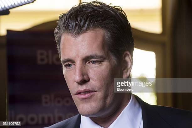 Tyler Winklevoss chief financial officer and cofounder of Gemini Trust Company LLC speaks during a Bloomberg West Television interview during the...