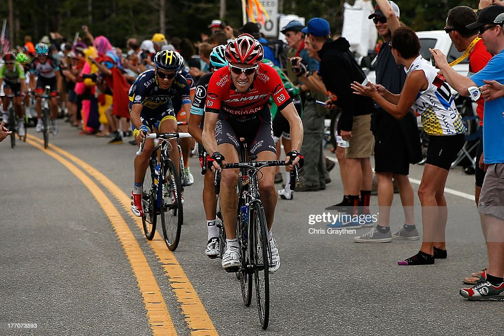 bf23e9646cd Tyler Wren of the United States and team Jelly Belly p/b Kenda leads ...