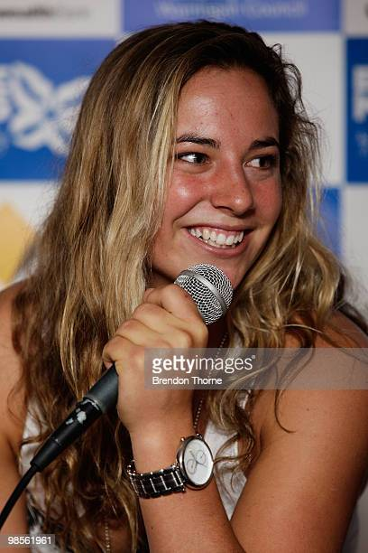 Tyler Wright attends the Beachley Classic press launch on April 20 2010 in Sydney Australia
