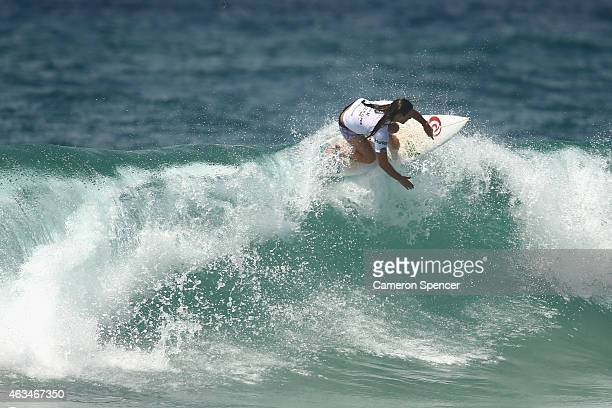 tyler Wright of Australia competes in the Women's final of the Australian Open of Surfing on February 15 2015 in Sydney Australia