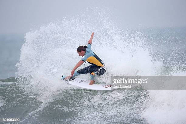 Tyler Wright of Australia in action during a free surf at the 2016 Hurley Pro at Trestles at San Onofre State Beach on September 10 2016 in Lower...