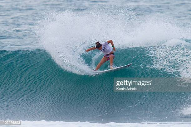 Tyler Wright of Australia surfs to victory during the Women's O'Neill World Cup of Surfing on on December 2 2010 in Sunset Beach Hawaii