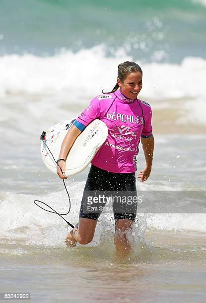 Tyler Wright of Australia walks out of the water after winning the 2008 Beachley Classic at Manly Beach on October 13 2008 in Sydney Australia Wright...