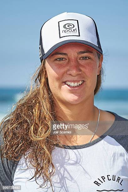Tyler Wright poses for a photo at the 2016 Hurley Pro at Trestles Media Day at San Onofre State Beach on September 6 2016 in Lower Trestles California