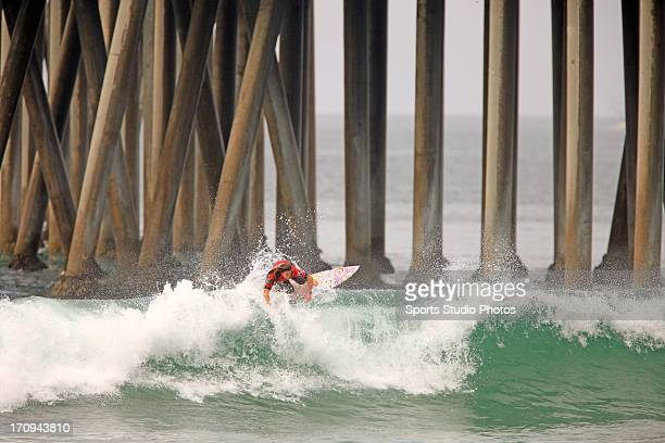 Tyler Wright surfs in the 2012 US Woman's Open in Huntington Beach California