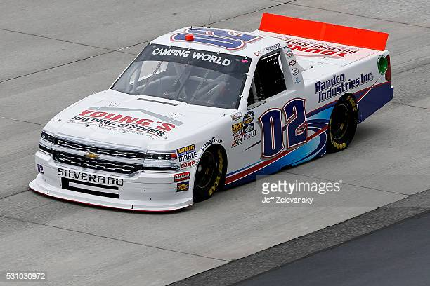 Tyler Young driver of the Randco/Young's Building Systems Chevrolet practices for the NASCAR Camping World Truck Series at Dover International...