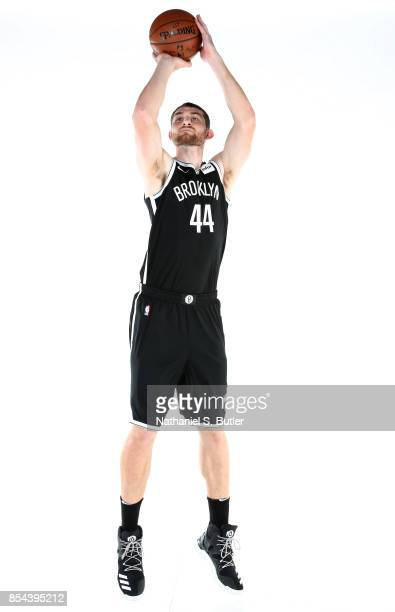Tyler Zeller of the Brooklyn Nets poses for a portrait during the 20172018 Brooklyn Nets Media Day at the Hospital for Special Surgery Training...